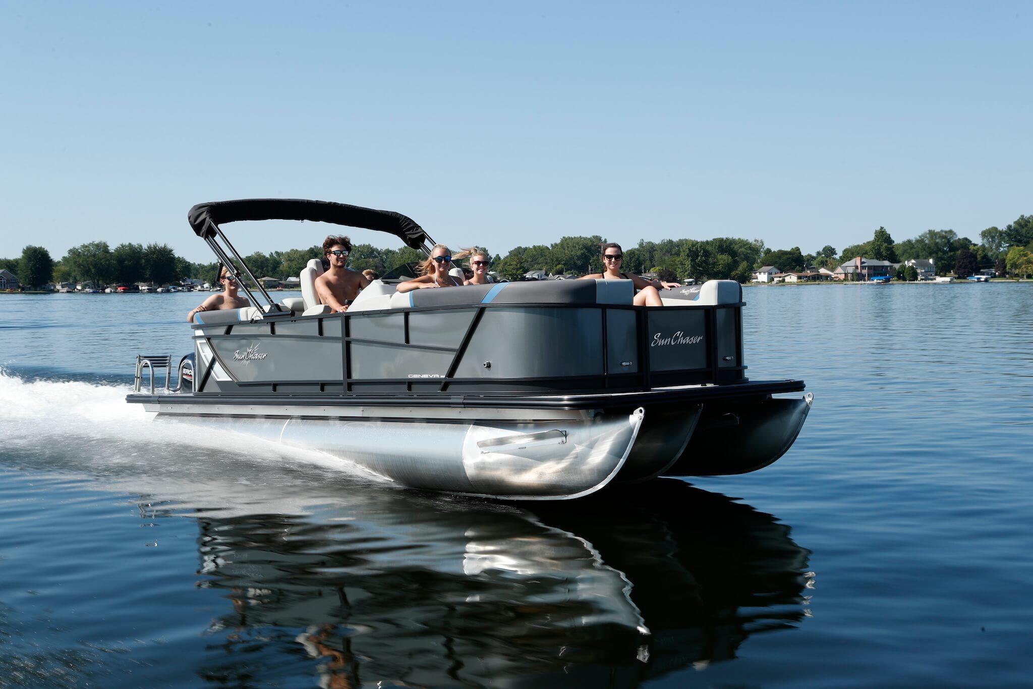 Freshwater Marine   Sunchaser Geneva Pontoon Boat