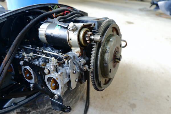 Boat motor needing repair