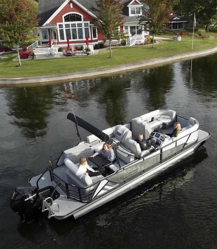 Sunchaser Eclipse Pontoon Boat Cruising